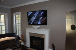 Flat Panel Over Fireplace