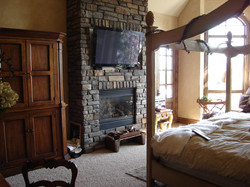 Custom Flat Panel Install Over Stone Fireplace