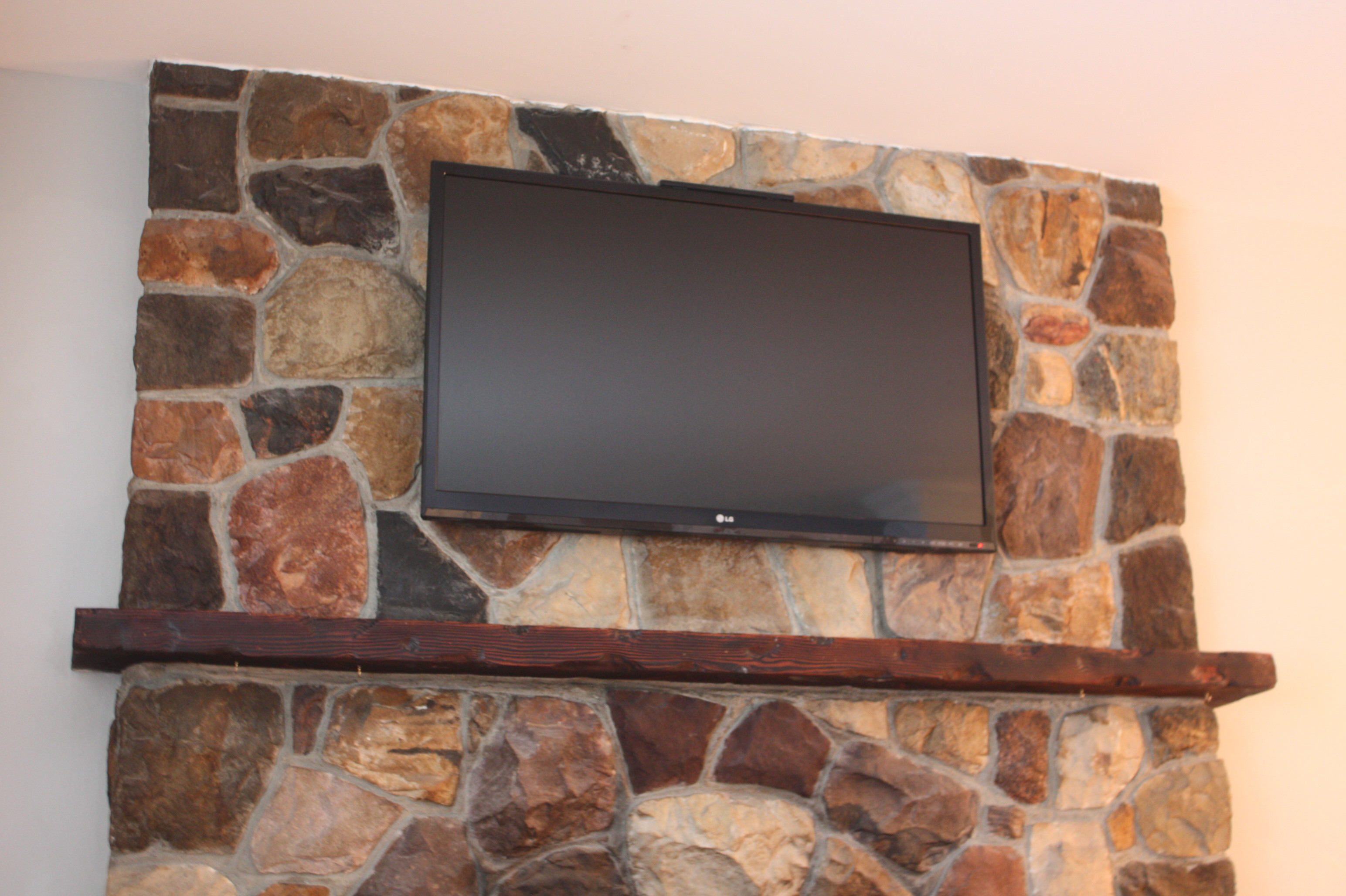 Flat Screen TV Over Fireplace