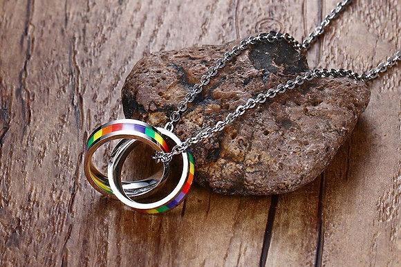 Rainbow ketting  van titanium RVS