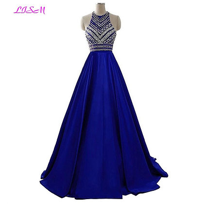 Royal Blue Crystals Dress