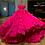 Thumbnail: Luxe fuchsia feather dress