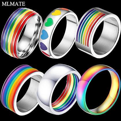 Rainbow ringen van roestvrijstaal