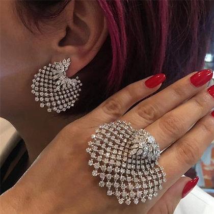 Bohemian strass jewelry set