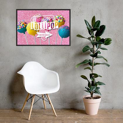 Framed poster Lollipop logo