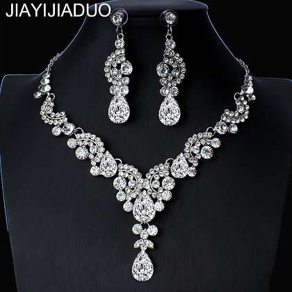 Elegant Floral Bridal Jewelry Set