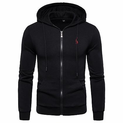 Fleece zipper hoodie
