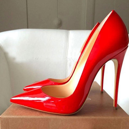 Rode stiletto pumps