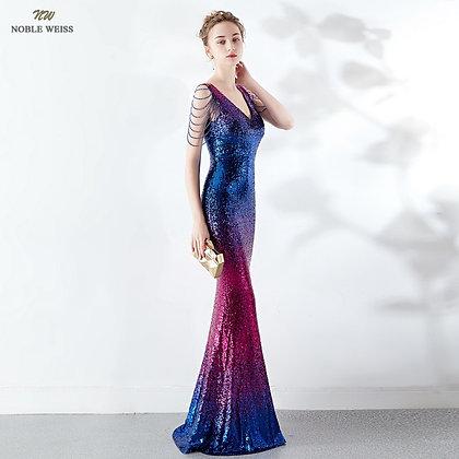 V-Neck mermaid dress