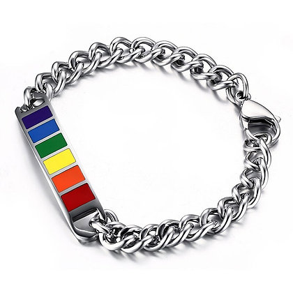 Rainbow armband roestvrijstaal