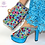Thumbnail: Sky-Blue African Shoes and Bag Set