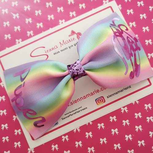 Pastel Personalised XL Bow