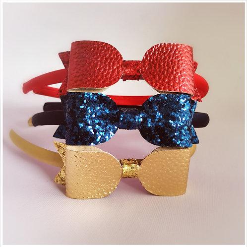 Glitter Bow Aliceband