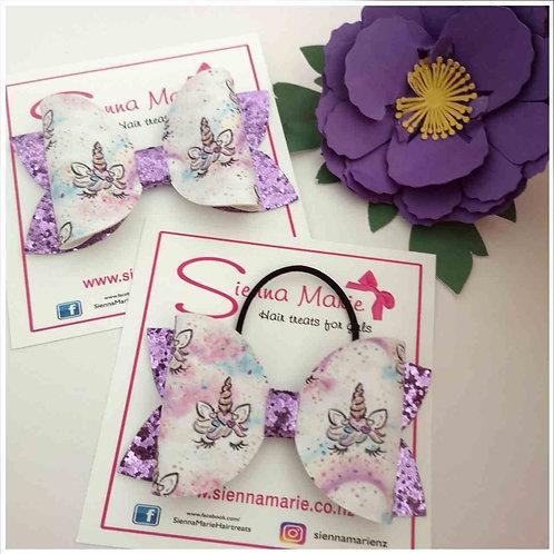 Lovely lilac unicorn bow