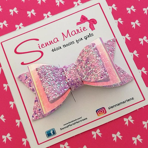 Double Layer Glitter Bow