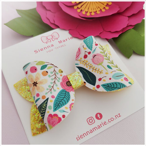 SUPER SALE - Floral whimsy bow