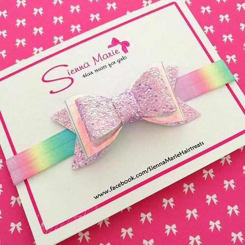 Glitter Bow Ombre Print Headband