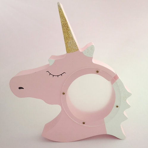 Unicorn - Wooden money bank