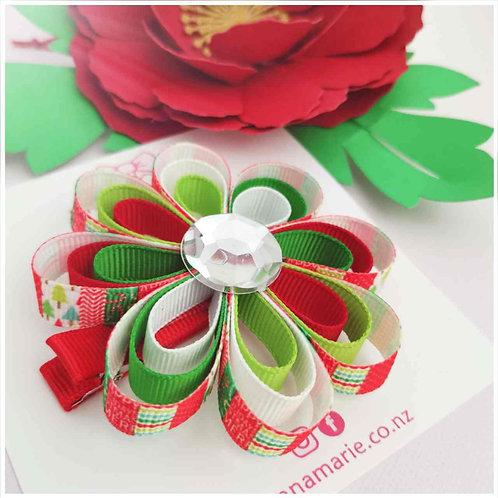 Christmas flower bow