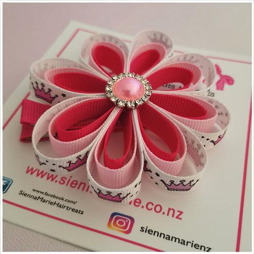 Princess Ribbon Flower Clip