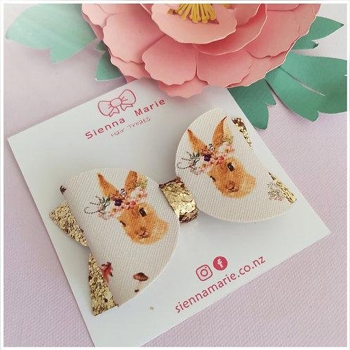 Floral Bunny Bow