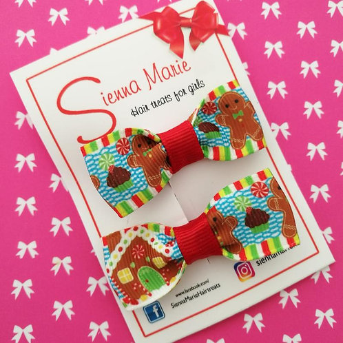 Gingerbread Treat Bow Pair