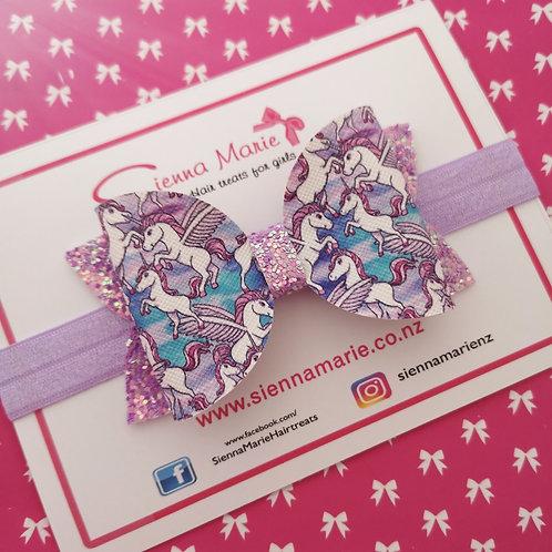 Lilac Unicorn Bow
