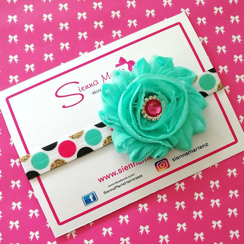 Spot Print Flower Headband