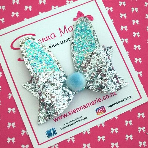 Glitter Bunny Ear Bow