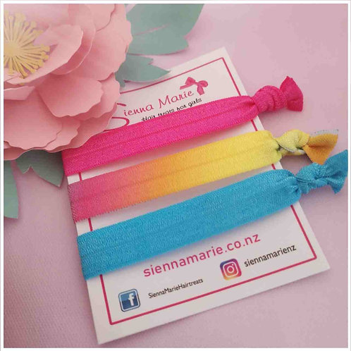 Rainbow - no snag hairties