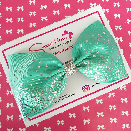 Mint Sparkle XL Bow