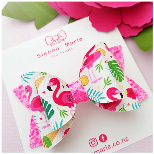 Flamingo Fancy Bow