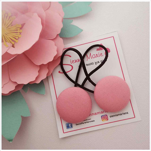 Perfectly pink button hairties