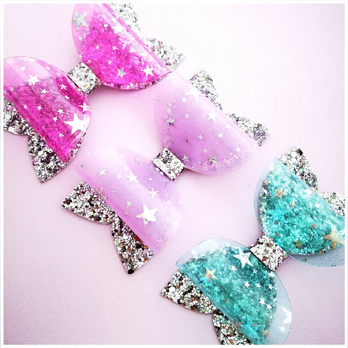 Gloss Star Glitter Bow - 3 colour options