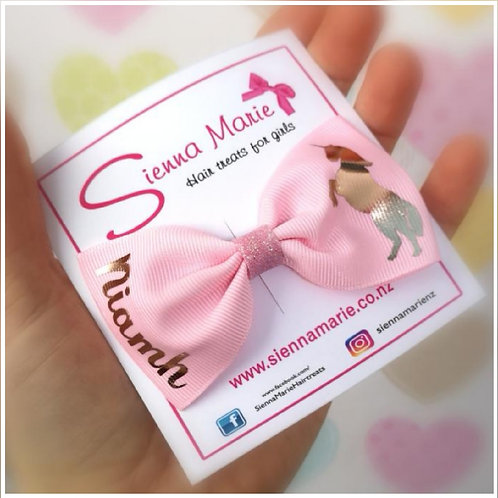 Small Personalised Ribbon Bow