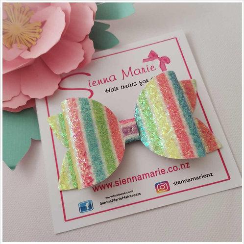 Glitter Stripe Bow