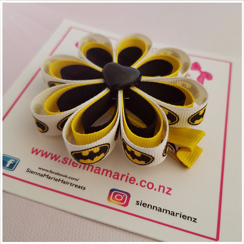 Superhero Ribbon Flower Clip