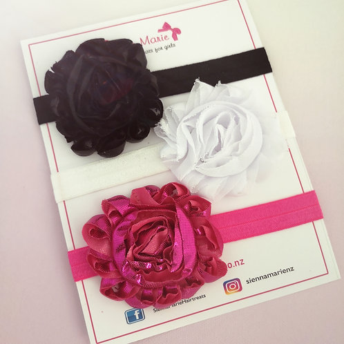 3-6 month headband set