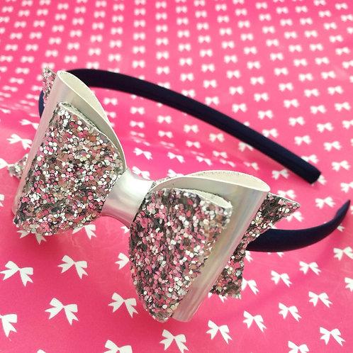 Silver Glitter/Mirror Alice Band