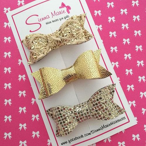 Gold Bow Set - Mini