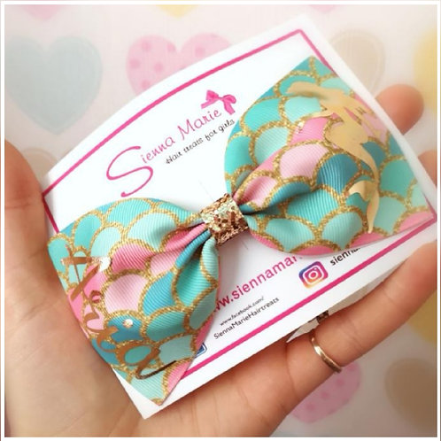 Personalised Mermaid XL Bow