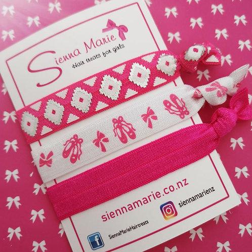 Pink print - no snag hairties