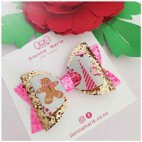 Pink ginger girl bow