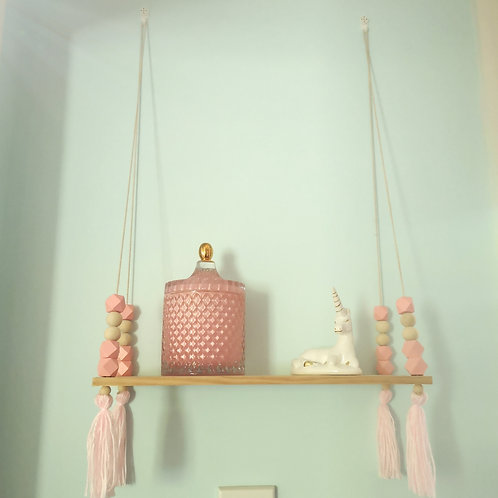 Wooden bead shelf