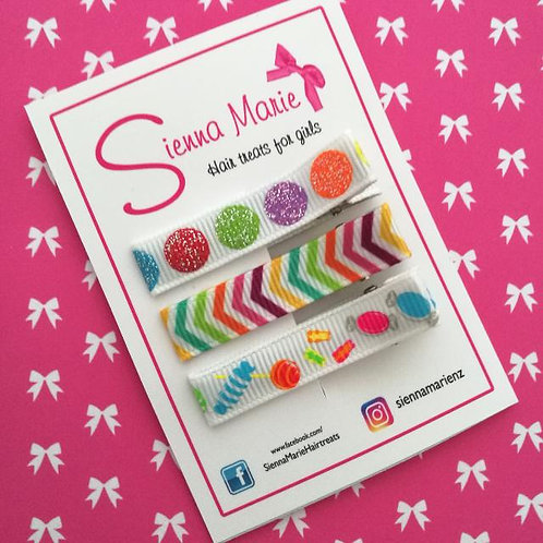 Candy Lined Clip Set