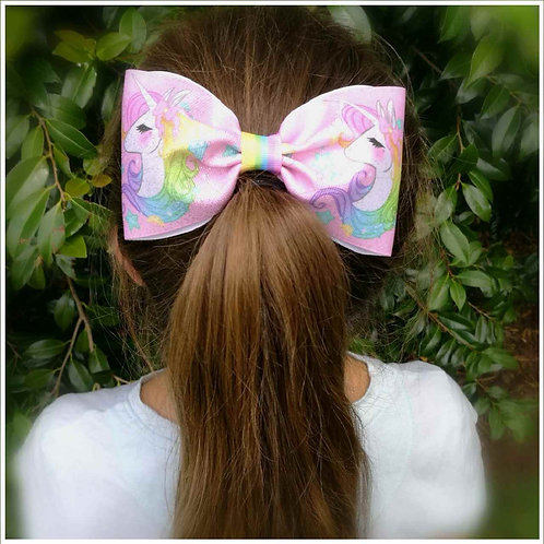 XL Unicorn Ribbon Bow