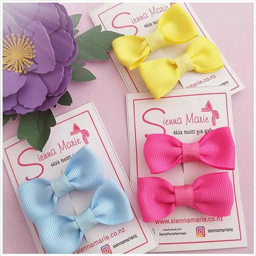 Coloured Bow Pair - 10 colour options