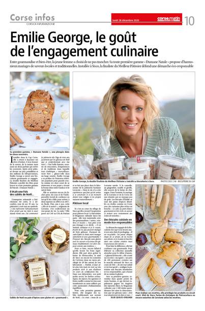Article de Corse Matin - Décembre 2020