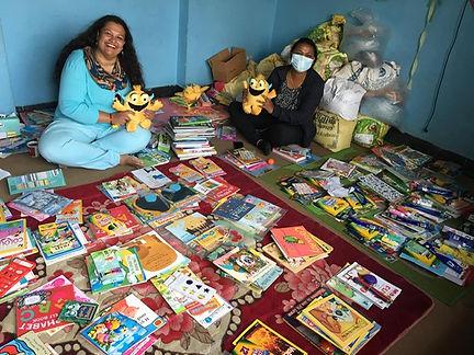 BSF staff preparing creative kits of kid