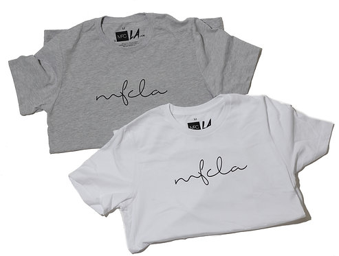 MFCLA Cursive t-shirt